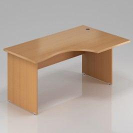 Rauman Ergonomický stůl Visio 140 x 70/100 cm, pravý buk