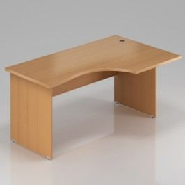 Rauman Ergonomický stůl Visio 160 x 70/100 cm, pravý buk