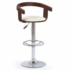 Halmar Barová židle H-8 třešeň / krémová