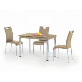 HALMAR Jídelní stůl Lubi béžová / chrom