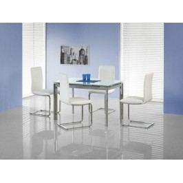 HALMAR Jídelní stůl Lambert bílá / chrom