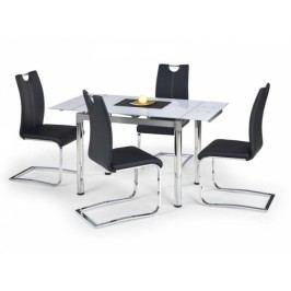 HALMAR Jídelní stůl Logan bílá / chrom