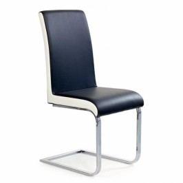 HALMAR Kovová židle K103 černá / bílá