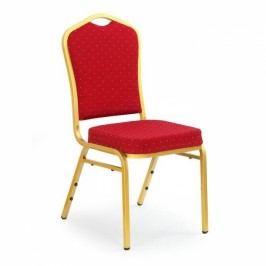 HALMAR Jídelní židle K66 červená / zlatá