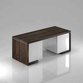 Rauman Stůl Lineart 200 x 85 cm + 2x kontejner jilm tmavý / bílá