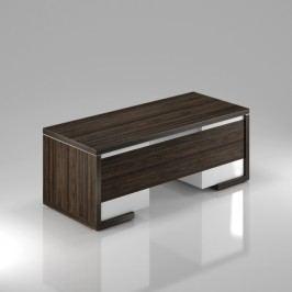 Rauman Stůl Lineart 200 x 85 cm + 2x kontejner a krycí panel jilm tmavý / bílá