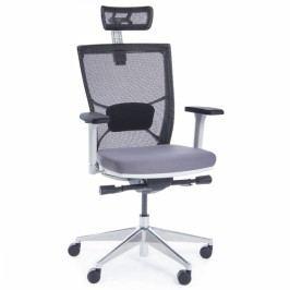 Kancelářská židle Marion White šedá