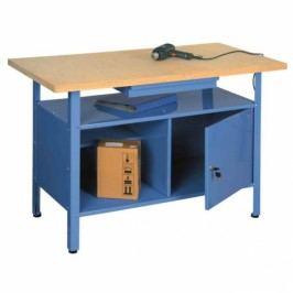 Ponk - dílenský stůl TG-SW2, 1 zásuvka modrá
