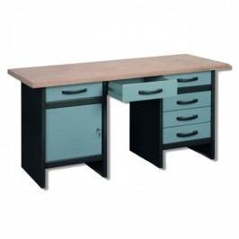 Ponk - PROFI dílenský stůl TG-SWK14, 6 zásuvek šedá