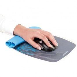 Fellowes silikonová podložka pod myš a zápěstí modrý motiv