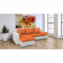 Rohová sedací souprava Marzenie oranžová
