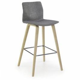 Barová židle Burgy šedá