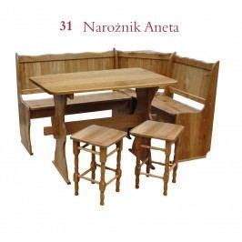 Rohová lavice ANETA 110 x 150 cm
