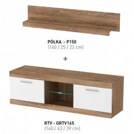 Piasky Televizní stolek s poličkou GULIO