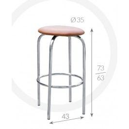 Metpol Barová židle Eryk Metpol  73/63 x 43