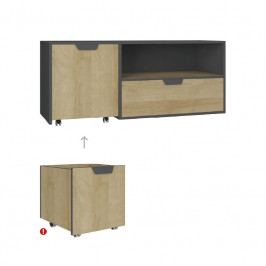 Meblar Televizní stolek NA10 NANO Meblar 120/45/50