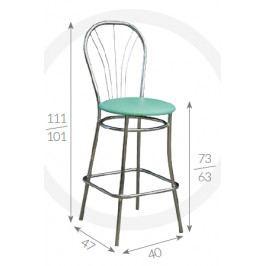 Metpol Barová židle Mars Metpol 111/101 x 73/63 x 47 x 40