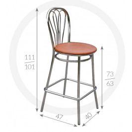 Metpol Barová židle Venus Metpol 111/101 x 73/63 x 47 x 40
