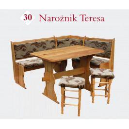 Rohová lavice TERESA 110 x 150 cm výprodej kaštan
