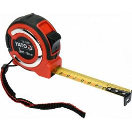 Svinovací metr 5m s magnetickou koncovkou, šířka 19 mm - YT-71061   Yato