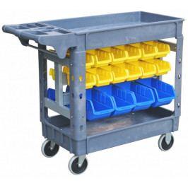 Dílenský vozík s boxy 950 x 650 mm, 42 boxů - PSB9565 | AHProfi