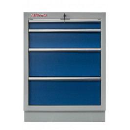 Celokovová dílenská skříňka PROFI BLUE se 4-mi šuplíky 680x910x458 mm - MTGC1304 | Torin BIG RED