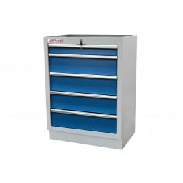 Celokovová skříňka s 5-ti šuplíky PROFI BLUE | Torin BIG RED
