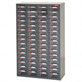 Galvanizovaný kovový organizér pro dílenský materiál a díly s 60 zásuvkami ST2-460 | Shuter