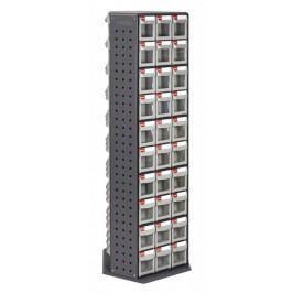 Otočný kovový dílenský organizér s 90 zásuvkami - RFO-690 | Shuter