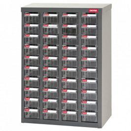Galvanizovaný kovový organizér pro dílenský materiál a díly s 40 zásuvkami ST1-440 | Shuter