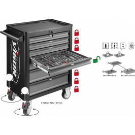 Dílenský vozík na nářadí VIGOR 1000 se 7 zásuvkami, šedý - V1901 | Vigor