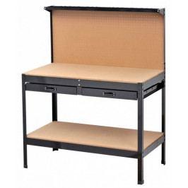 Pracovní stůl s děrovanou deskou a dvěma šuplíky - WT1002A | AHProfi