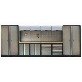 Kvalitní PROFI dílenský nábytek - 4535 x 2000 x 465 mm - TGS1300AA3 | Torin BIG RED