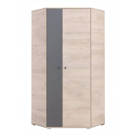 Rohová šatní skříň Delta 2