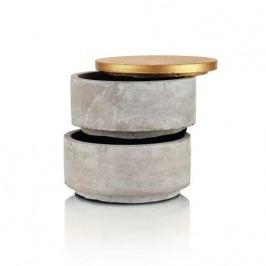Šperkovnice  beton + zlatá