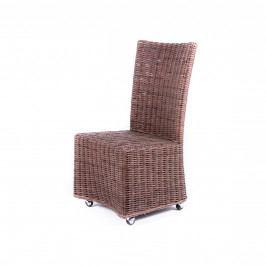 Ratanová židle na kolečkách