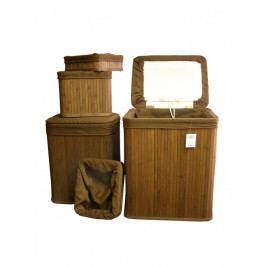 Koš bambusový - prádelní - sada 4ks