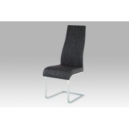 Jídelní židle chrom / látka černá