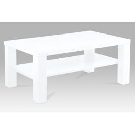 Konferenční stolek 100x60x42 cm, vysoký lesk bílý