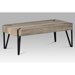"""Konferenční stolek, dub \""""Canyon grey\"""" / černá"""