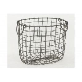 Košík kovový - barva šedá