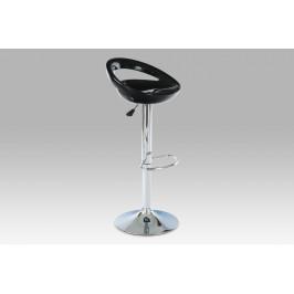 (AUB-403 BK) Barová židle, chrom / plast černý