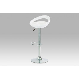 (AUB-403 WT) Barová židle, chrom / plast bílý