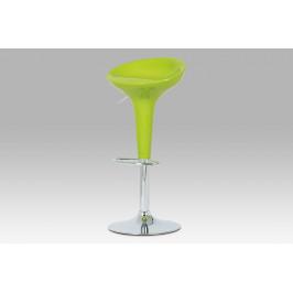 Barová židle, zelený plast / chrom