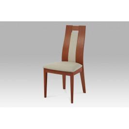 Jídelní židle masiv buk, barva třešeň, potah sv. khaki