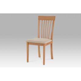 Jídelní židle, buk, potah béžový