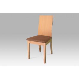Židle buk, potah hnědý