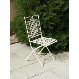 Kovová židle, bílá