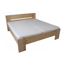 Dřevěná manželská postel LENKA - smrk