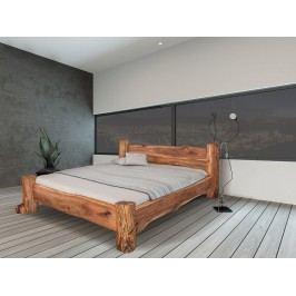 Masivní designová postel BELINA z jilmového dřeva